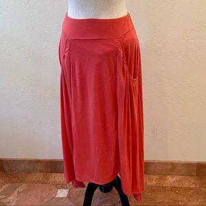 Free People rusty pink jersey skirt M